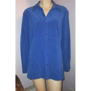 Sag Harbor MOLESKIN Royal Blue FRENCH SEAMS Top 16
